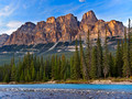 Castle Mountain from the Bow River