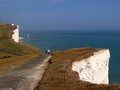 Beachy Head - My wife and daughter walking the coastal path