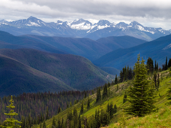Looking south over the alpine meadows in Manning Park