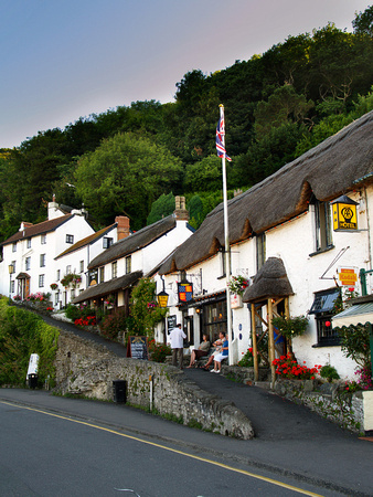 Thatched pub and cottages, Lynmouth, North Devon